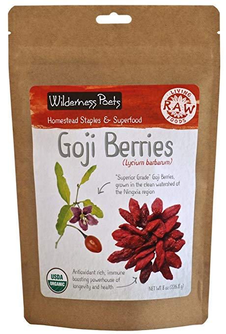 Wilderness Poets Raw Goji Berries 8 oz
