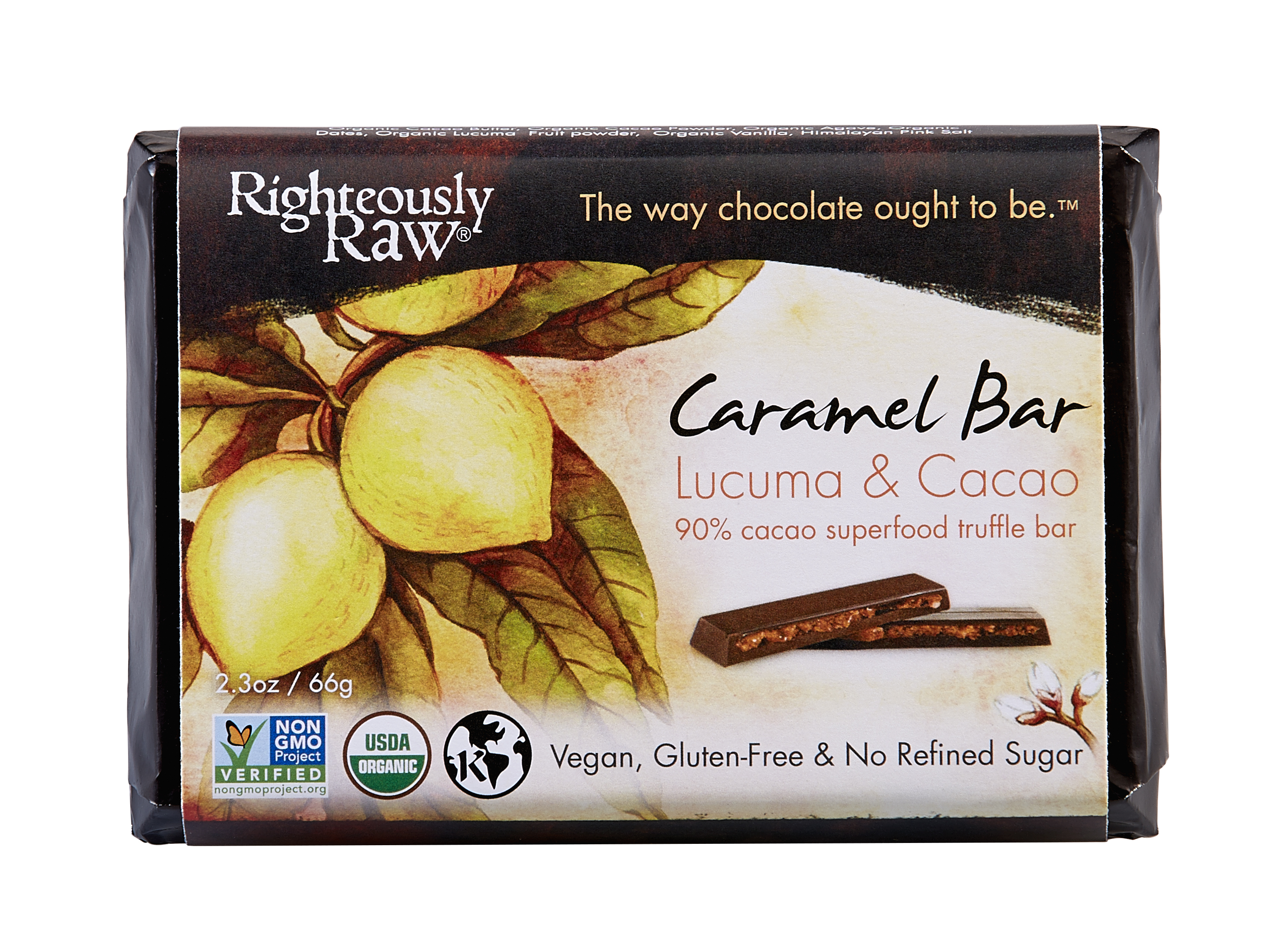 Righteously Raw Caramel Cocoa Bar