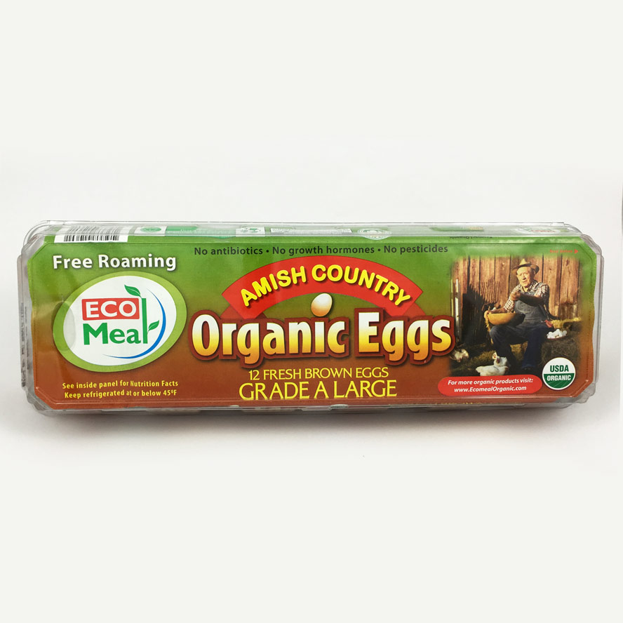 Ecomeal Organic Large Brown Eggs 12 ct