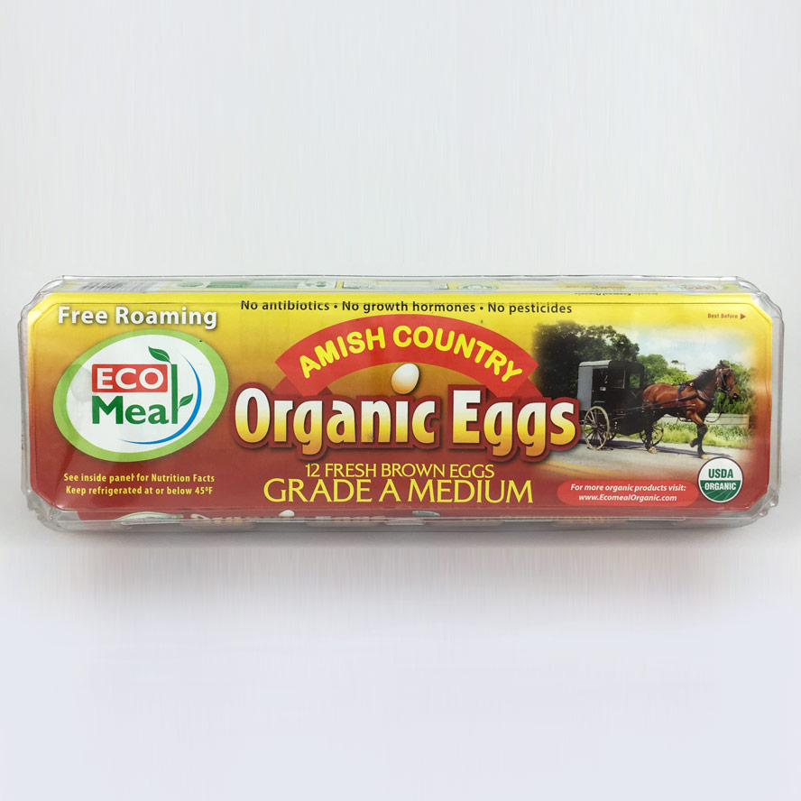 Ecomeal Organic Medium Brown Eggs 12 ct