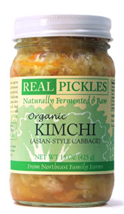 Real Pickles Organic Asian Style Cabbage Kimchi 15 oz