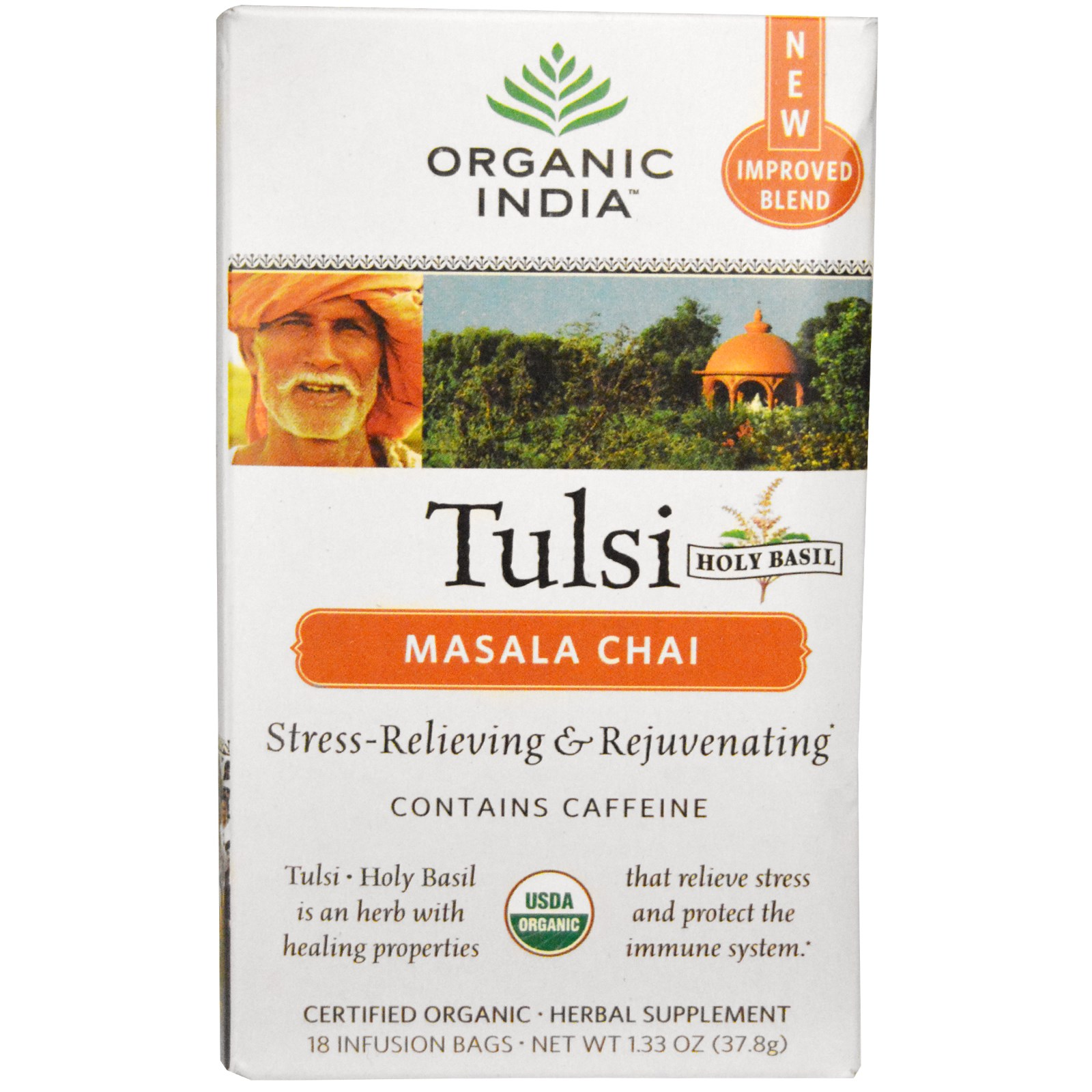 Organic India Chai Masala Tulsi Tea 18 ct