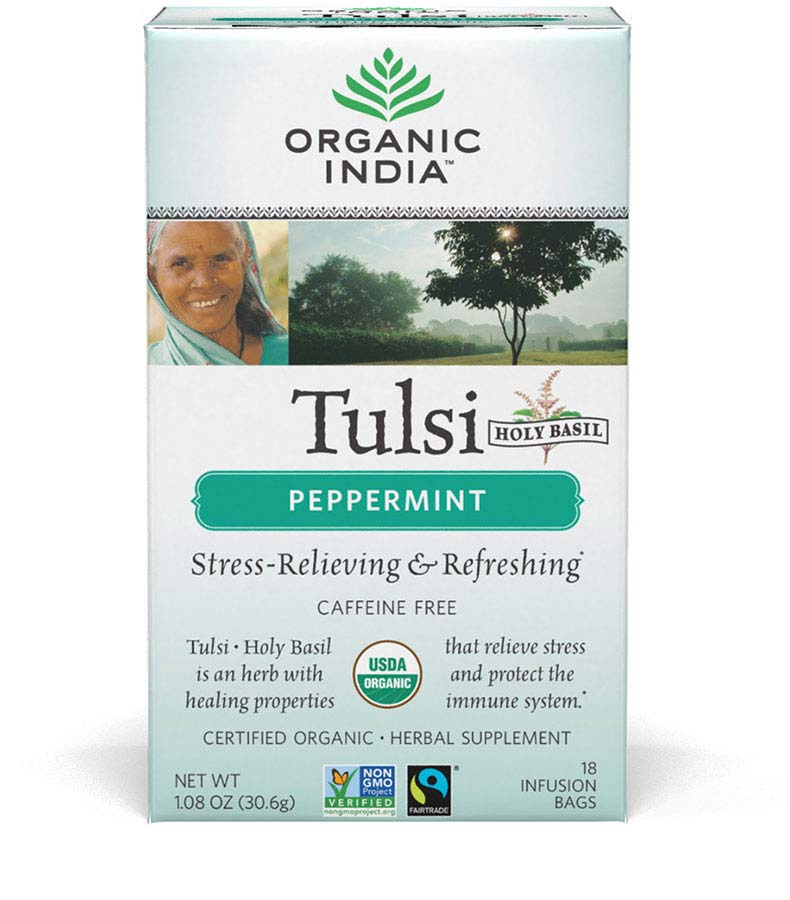 Organic India Peppermint Tulsi Tea 18 ct