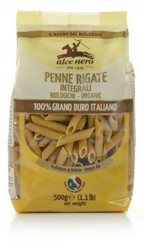 Alce Nero Pasta - 100 Farro Whole Grain Penne Rigate