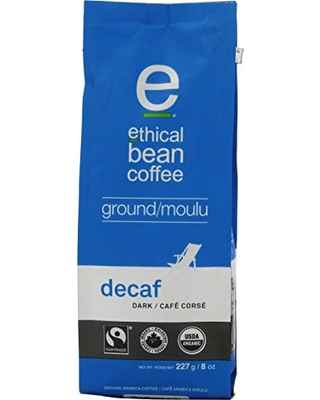 Ethical Bean Coffee Decaf Dark Ground Coffee Organic