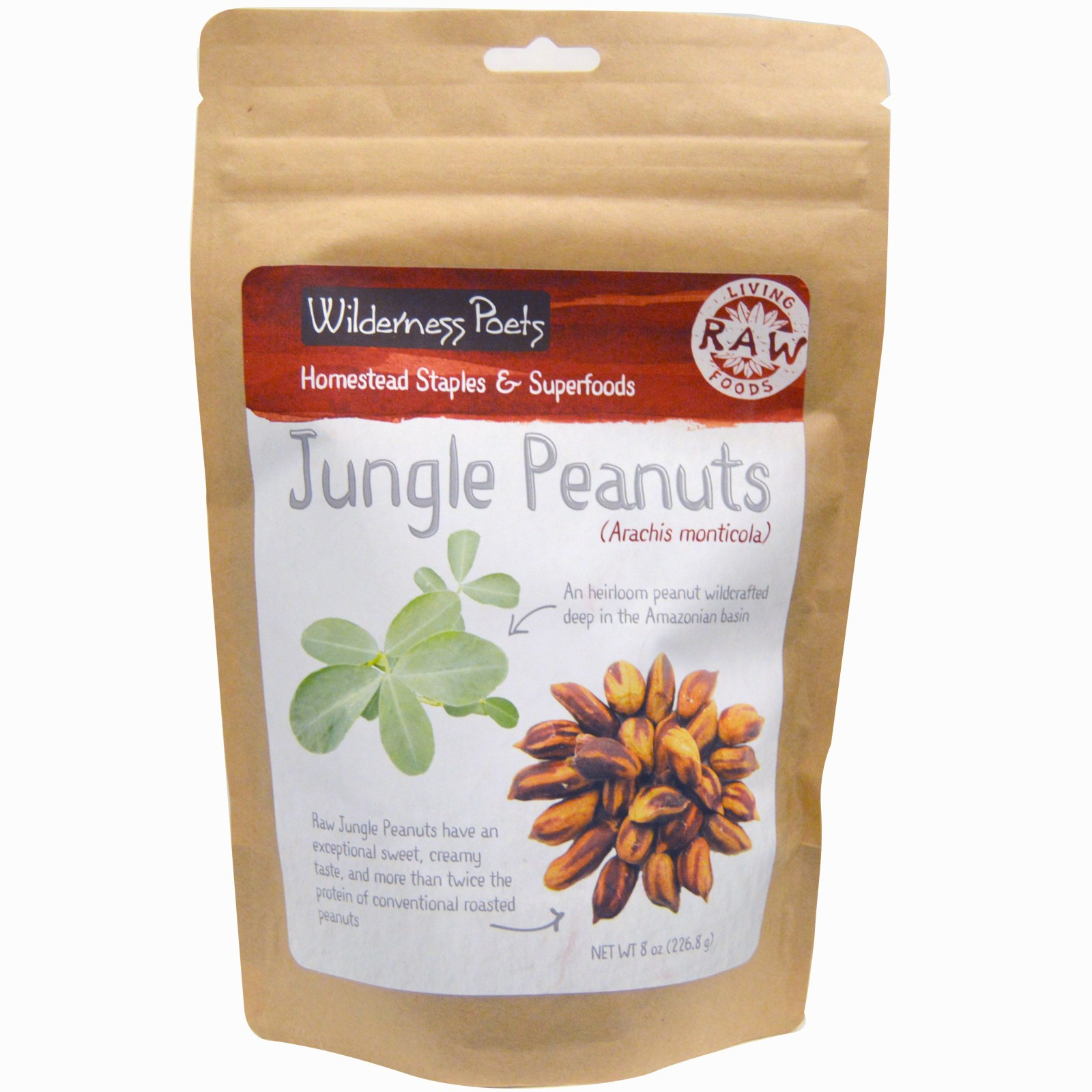 Wilderness Poets Jungle Peanuts Organic Raw 8 oz