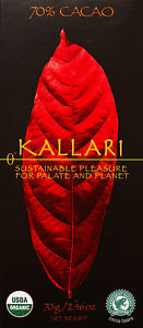 Kallari 70% Chocolate Organic Bar