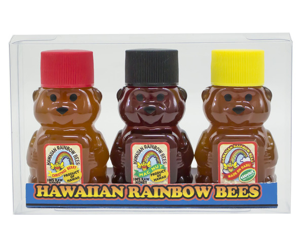 Hawaiian Rainbow Bees Raw Macadamia Nut Honey