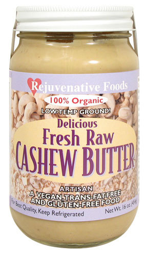 Rejuvenative Foods Cashew Butter Low-Temp Ground Fresh Raw