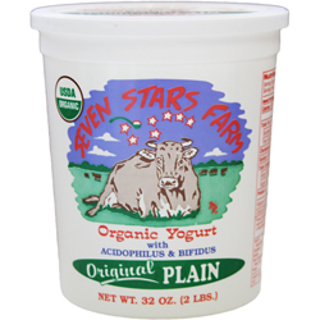 Seven Stars Organic Whole Plain Yogurt
