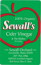 Sewall Organic Orchard Apple Cider Vinegar