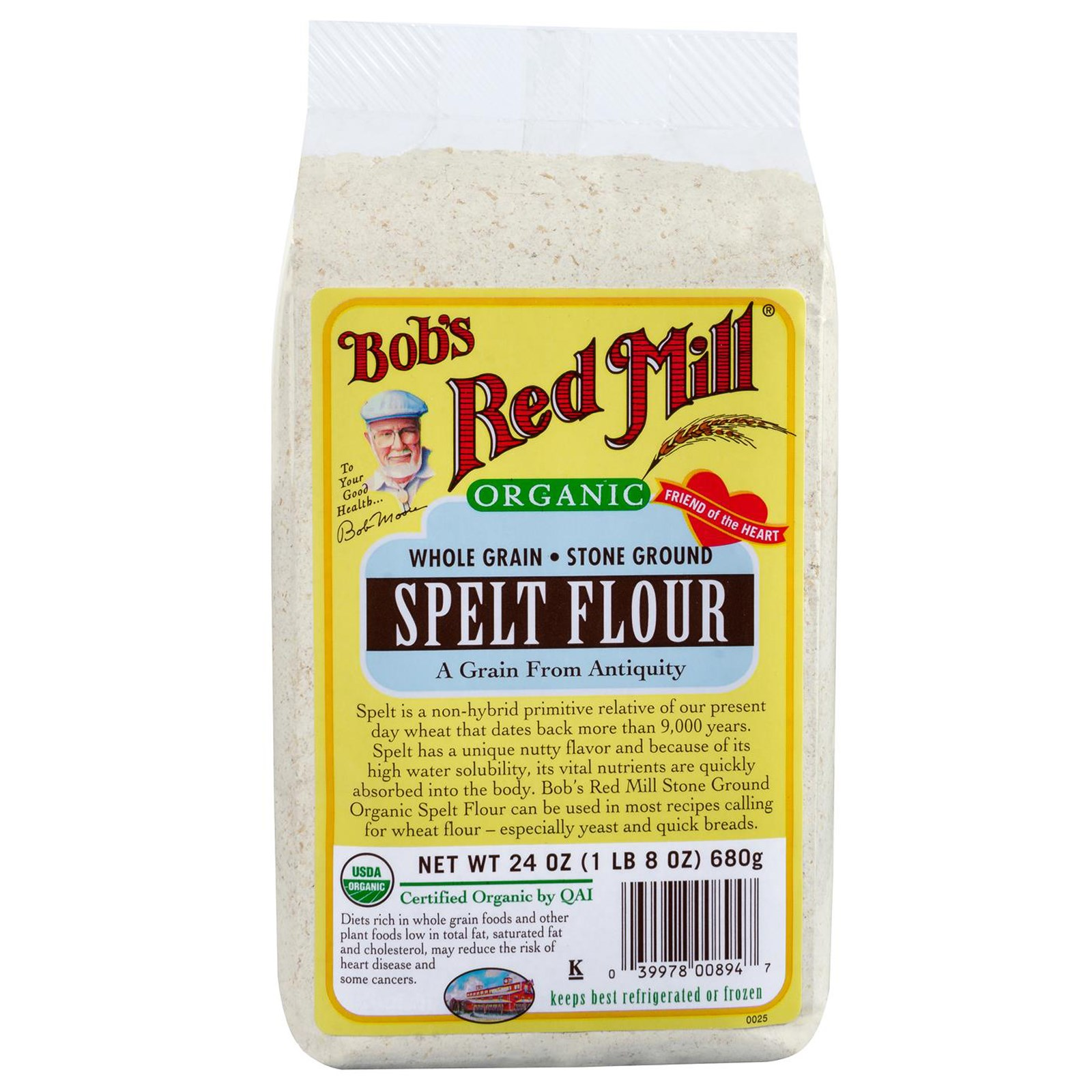 Bob's Red Mill Organic Whole Grain Spelt Flour