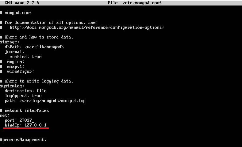 Bind IP mongoDB Digital Ocean