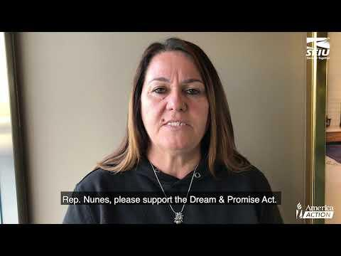 Christine asks Rep Nunes to support the Dream & Promise Act - CA-22
