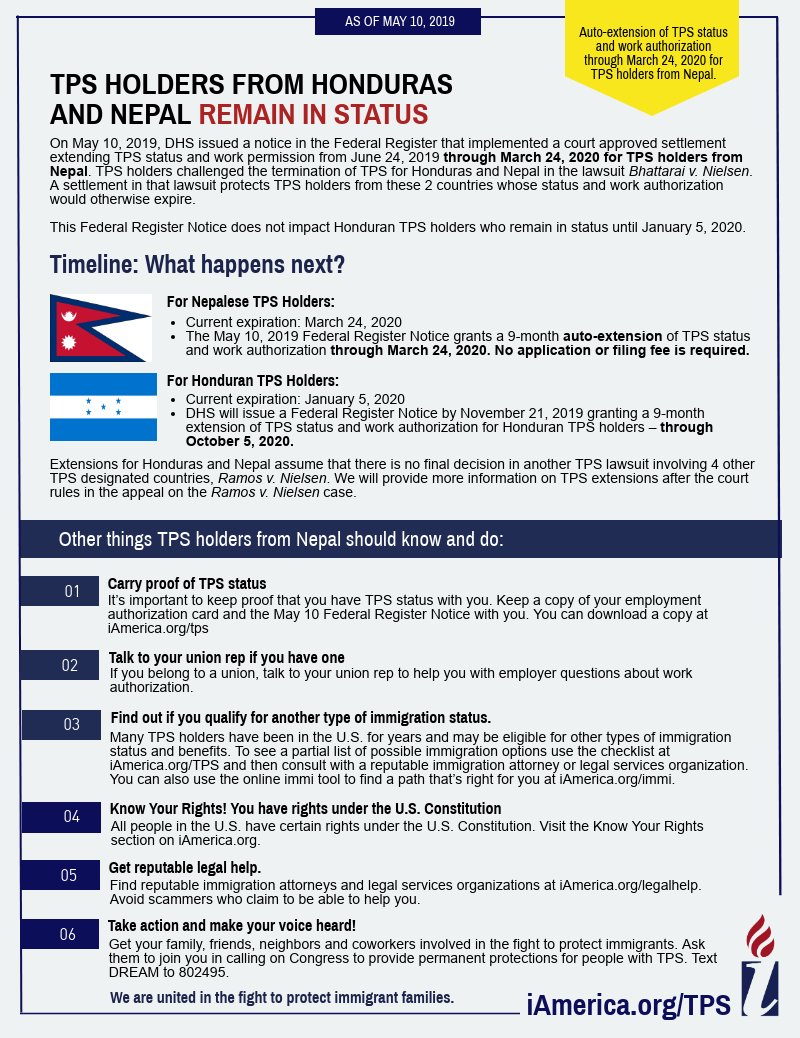 Temporary Protected Status (TPS) and DED | iAmerica