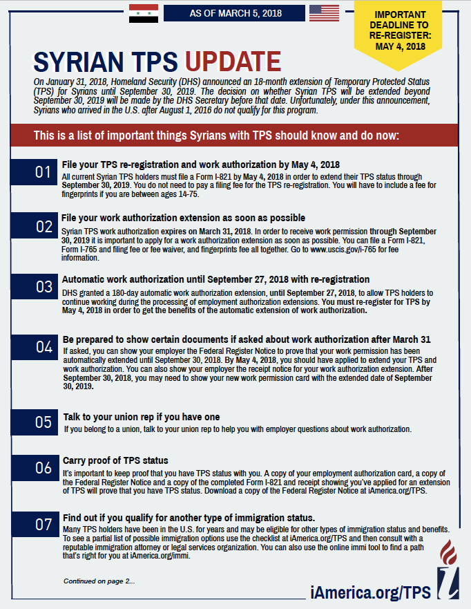 Temporary Protected Status Tps And Ded Iamerica