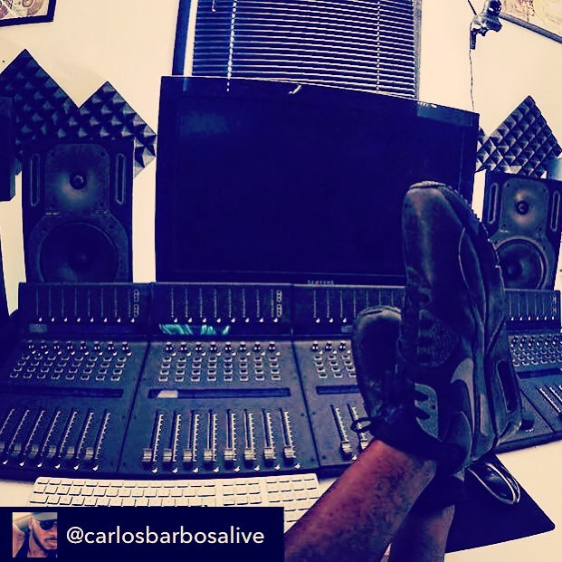 Get in your zone with @iconproaudio 😎 | Repost from @carlosbarbosalive using @RepostRegramApp – Zone !!! #mixingboard #chesterfield #pilars #music #songwriter #producer #productivity  level at 100% ️ pulled out the matching #Nikes on them! #woei