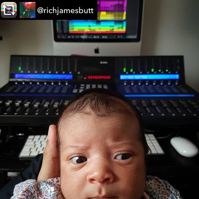 When you know you have your #work cut out for you #awww #qconprox #adorable | Repost from @richjamesbutt using @RepostRegramApp – 2 of my favourite things to do; hanging with Olivia and working on some #music •••••#daddydaycare #studiovibes #newmusic #babygirl #cutebaby #homestudio #babiesofinstagram #studiosofinstagram #instagood #instacool #qcon #mixingdesk #imac #musician #songwriter #newsongs #worship #worshipmusic #engineer #musicproducer