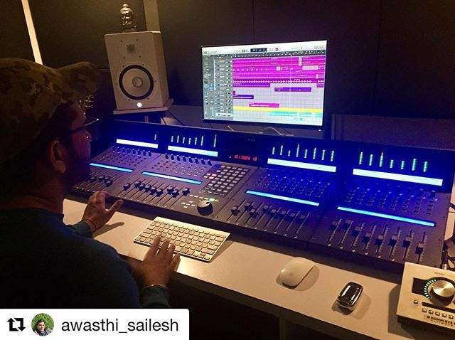 Check out this beautiful home studio by @awasthi_sailesh featuring the #qconprox !  #producer #music #artistic #iconproaudio