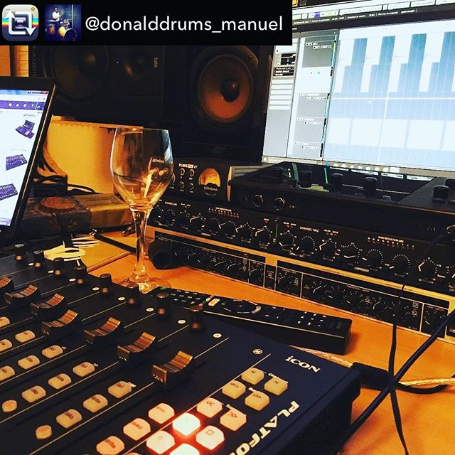 When you do what you love, it's never truly work.🕺🏼How do you use your Platform M+? Tag us so we can find out! We want to know! #Iconproaudio #PlatformM+ #HomeStudio #ItsAlmostFaderFriday  | Repost from @donalddrums_manuel using @RepostRegramApp – Nothing better than a glass of wine while working!….#minga3 #mixinginthebox #musicproducer #homestudio #iconproaudio #cubase #münchen #germany