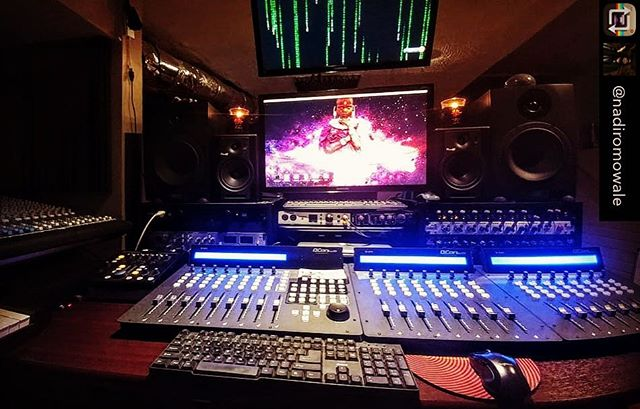 What a great way to start the week off 😎| Repost from @nadiromowale – A fresh new look in the Command Center at EkoBase Media courtesy of @iconproaudio and the new Qcon Pro G2 & QCon EX G2 contollers.#QConProG2 #QConEXG2  #BackInBlack #EscapingTheMatrix #afrofuturism #rebelbase