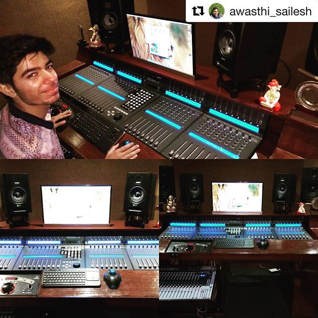 what a set up!! @awasthi_sailesh . The studio he is in is a role model! ・・・#dawcontroller #qconprox #iconproaudio #producer #music