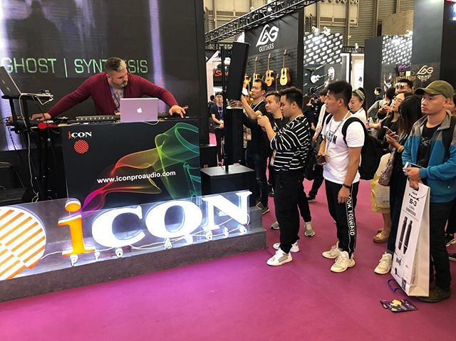 Look at Ghost Synthesis! He is rocking Music China 2018 for the folks in Shanghai, at the Icon Pro Audio booth #musicchina #producer #iconproaudio #music