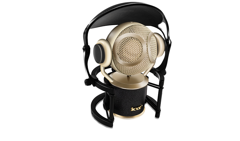 Martian large diaphragm condenser microphone with shock mount