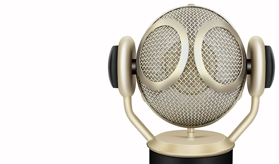 Martian large diaphragm condenser microphone with rotating head