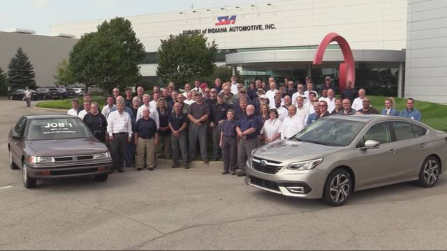 Subaru of Indiana Automotive celebrates 6 millionth vehicle and 30 years of production.mp4