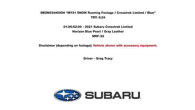 2021 Crosstrek Limited- snow driving footage.mp4
