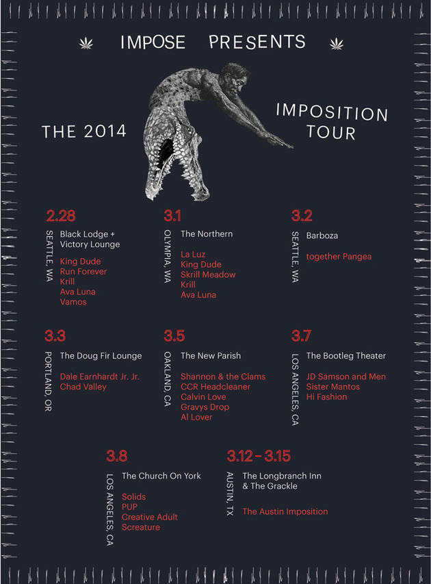 impose magazine imposition tour poster 2014