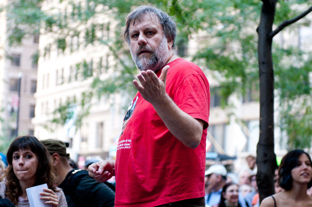 slavoj zizek speaking at occupy wall street