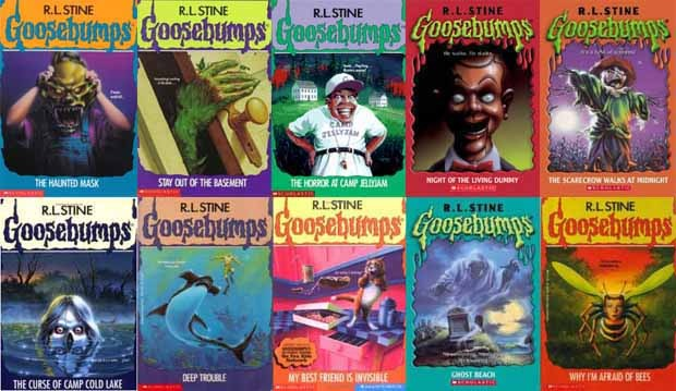 rows of goosebumps covers