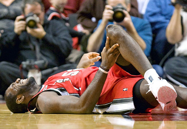 Greg Oden's injured knee