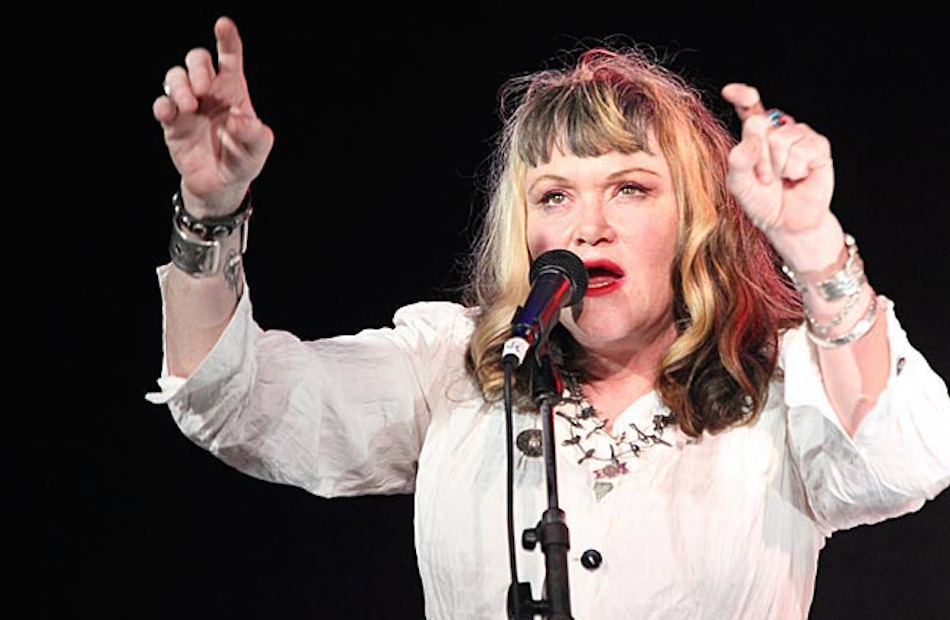 exene cervenka on stage 2013