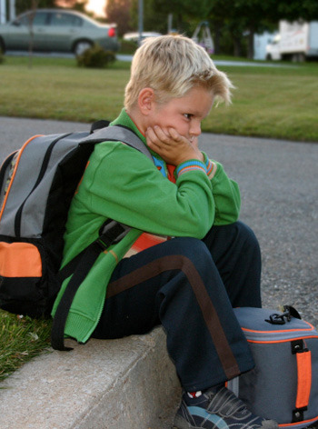 kid unhappy about school