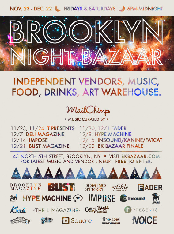 Brooklyn Night Bazaar flier
