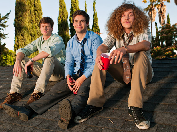 Workaholics Blake Anderson Anders Holm and Adam DeVine on a roof