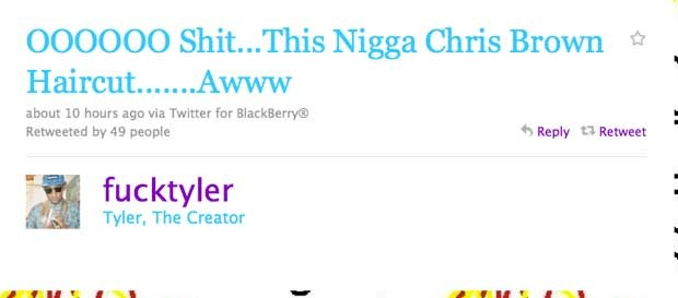 Tyler the Creator tweets about Chris Brown's hair