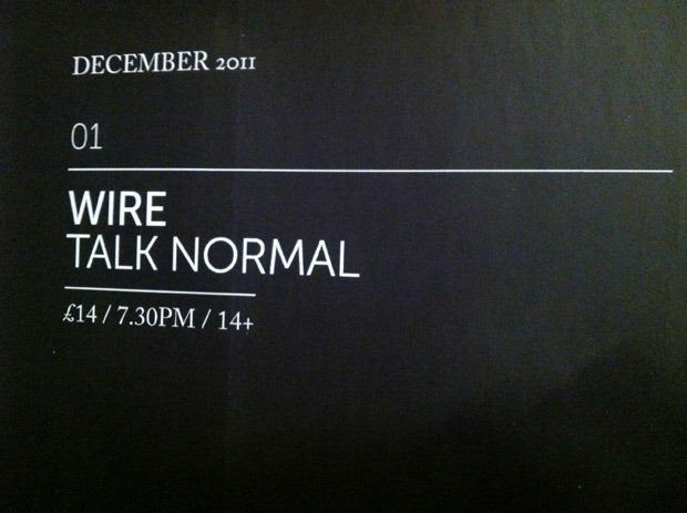 Talk Normal and Wire in Cardiff