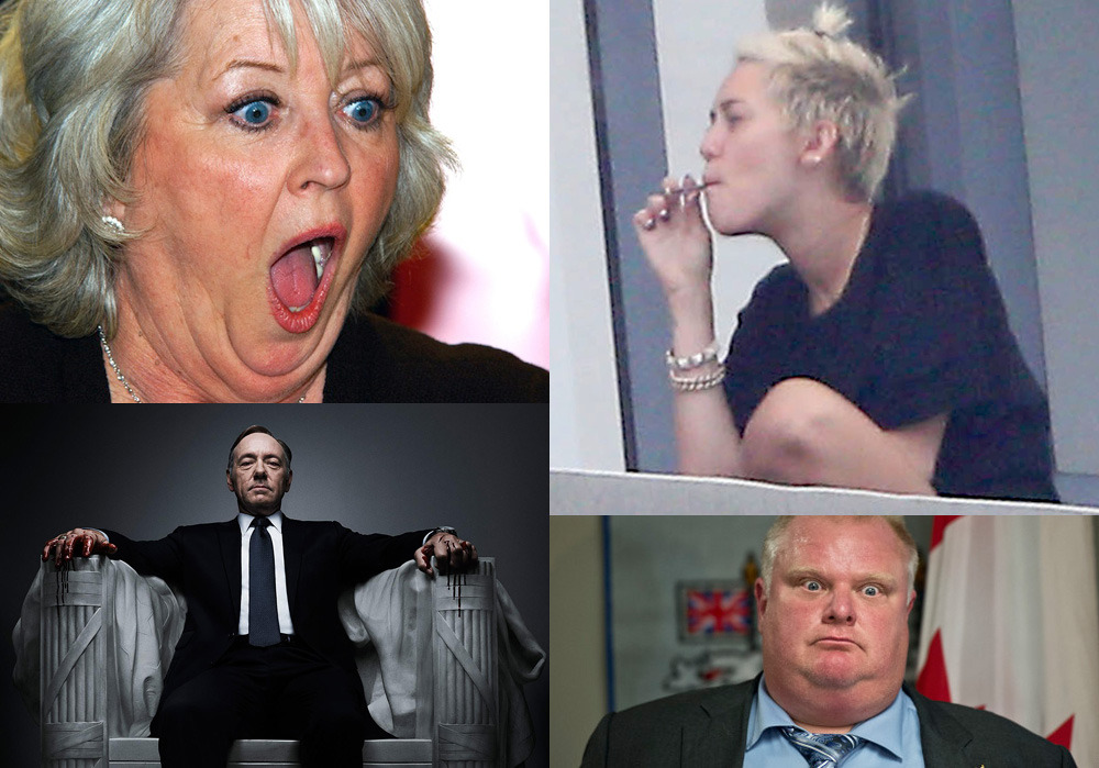 paula deen miley cyrus rob ford and house of cards