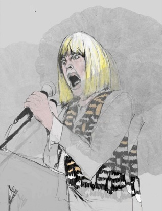 drawing of genesis p-orridge