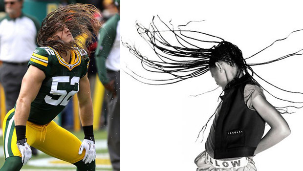 Clay Matthews and Willow Smith whipping hair