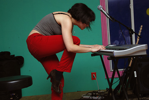 ana lola roman keyboard sexy red pants