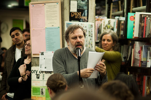 Slavoj Zizek at St. Mark's Bookshop