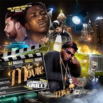 gucci mane and dj drama the movie mixtape cover