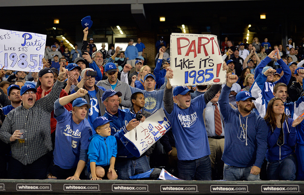 Kansas City Royals party like it's 1985
