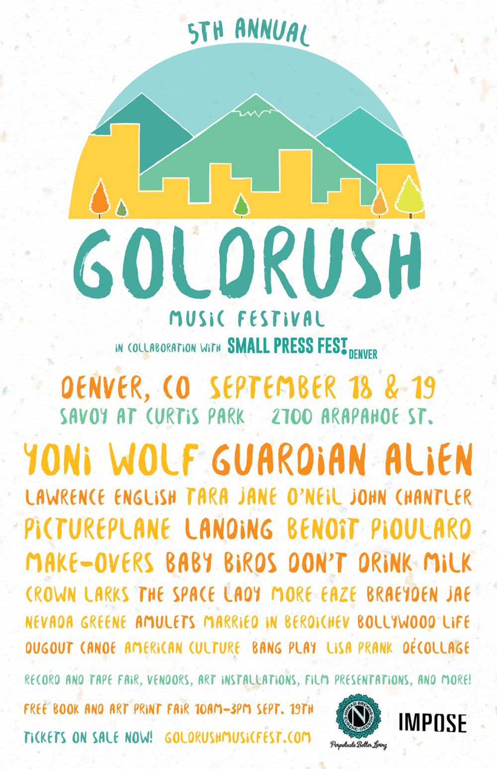 Goldrush festival flyer