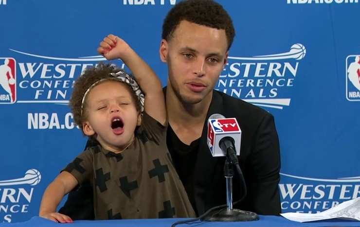 Steph Curry and daughter